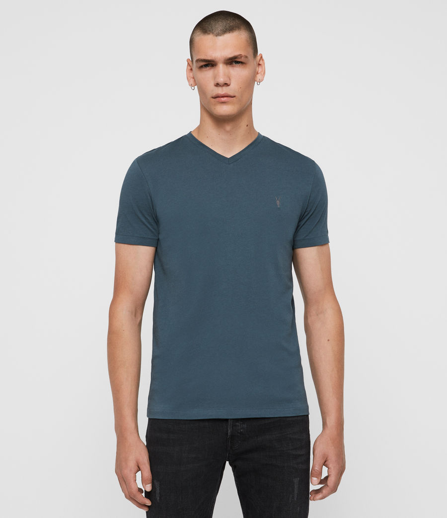Men's Tonic V-Neck T-Shirt (vault_blue) - Image 1