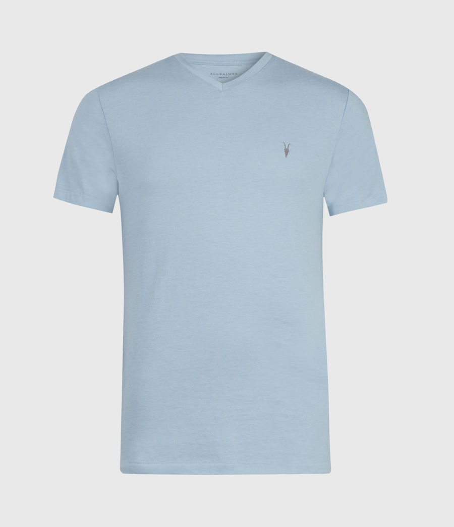 Hommes Tonic V-Neck T-Shirt (ceramic_blue_marl) - Image 1