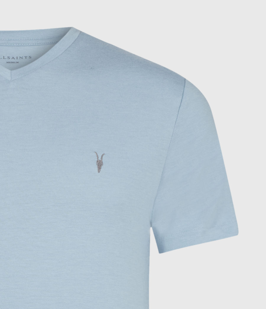 Hommes Tonic V-Neck T-Shirt (ceramic_blue_marl) - Image 3