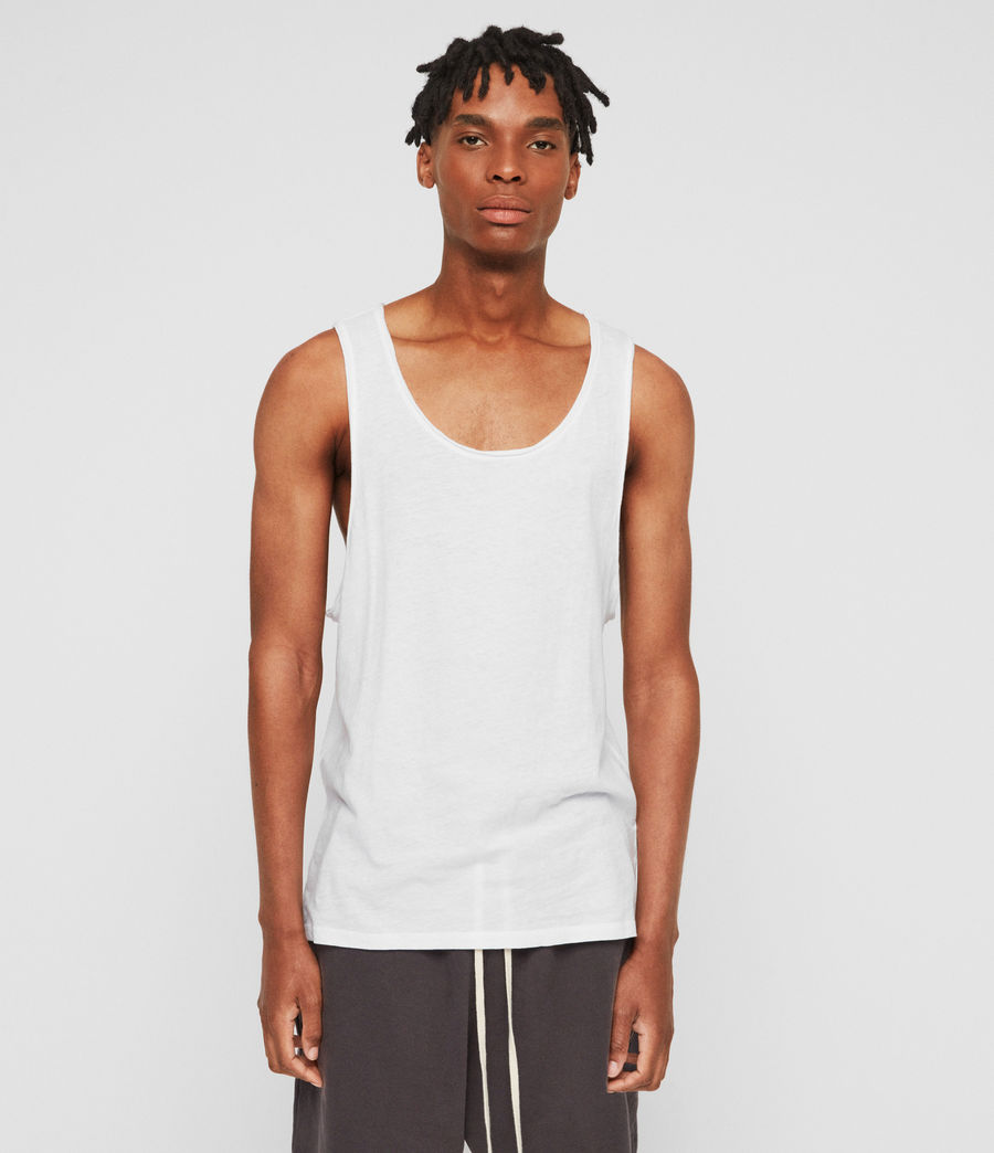 Men's Figure Vest (optic_white) - Image 1