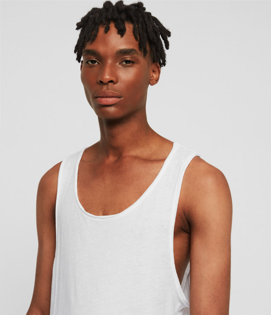 Men's Figure Vest (optic_white) - Image 3