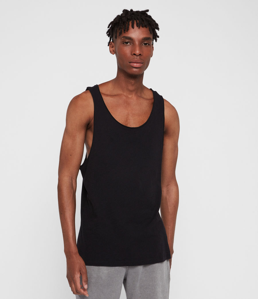 Mens Figure Vest (jet_black) - Image 1