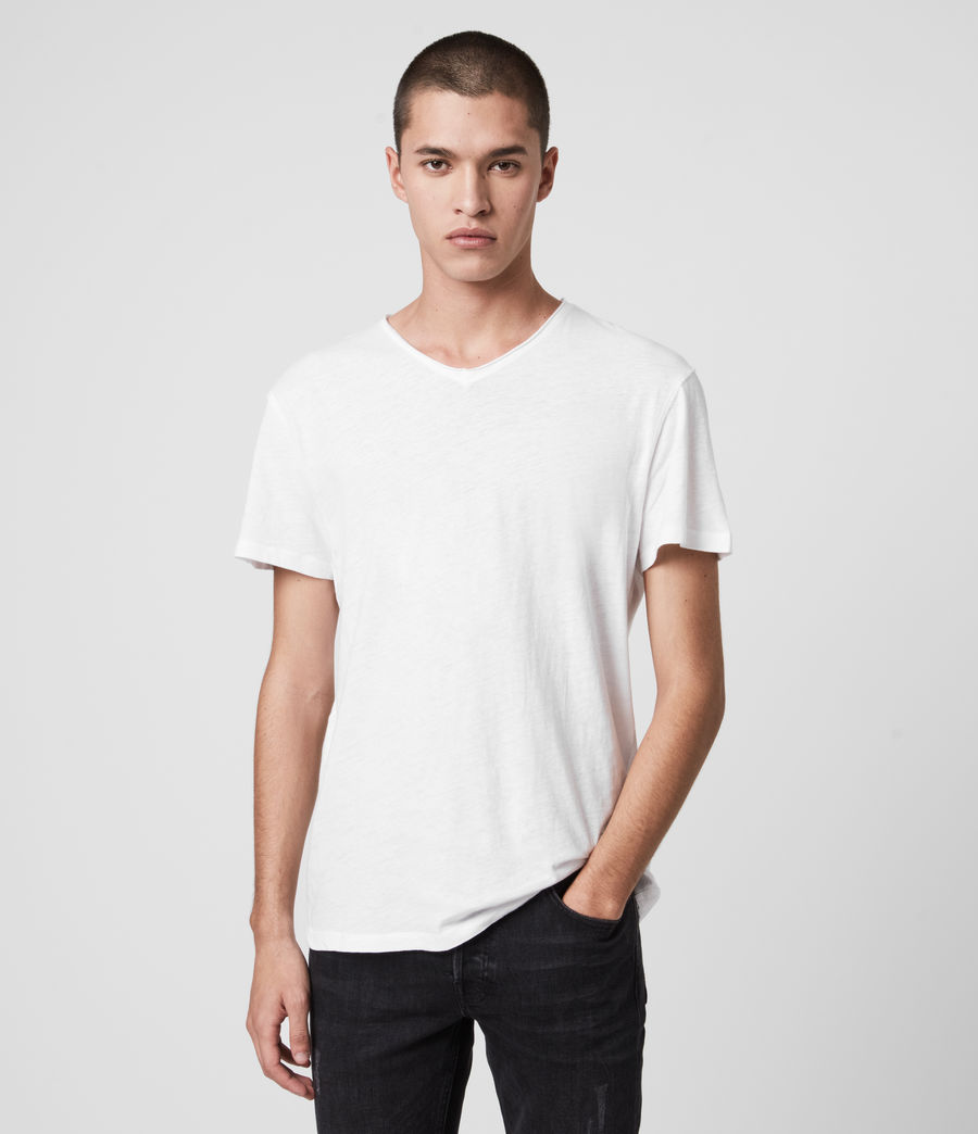 Men's Figure V-Neck T-Shirt (optic_white) - Image 1