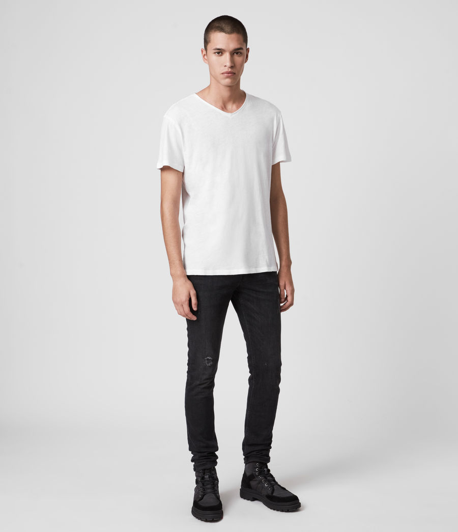 Hommes T-Shirt Figure Col V (optic_white) - Image 3