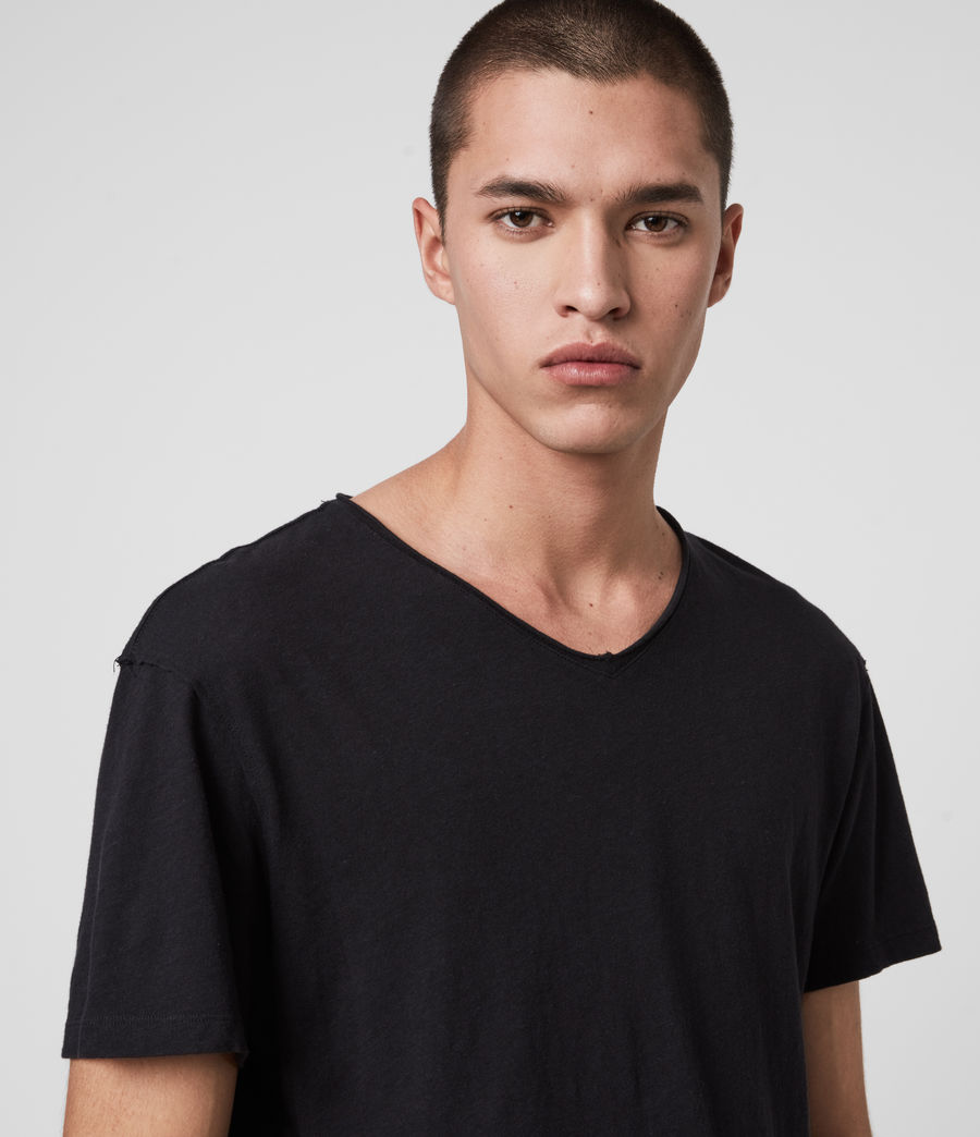 Mens Figure V-Neck T-Shirt (jet_black) - Image 2