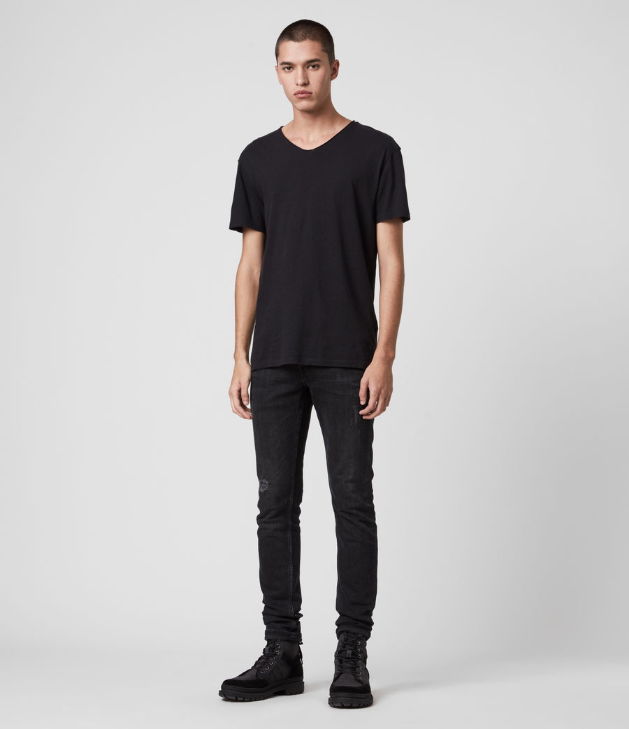Mens Figure V-Neck T-Shirt (jet_black) - Image 3