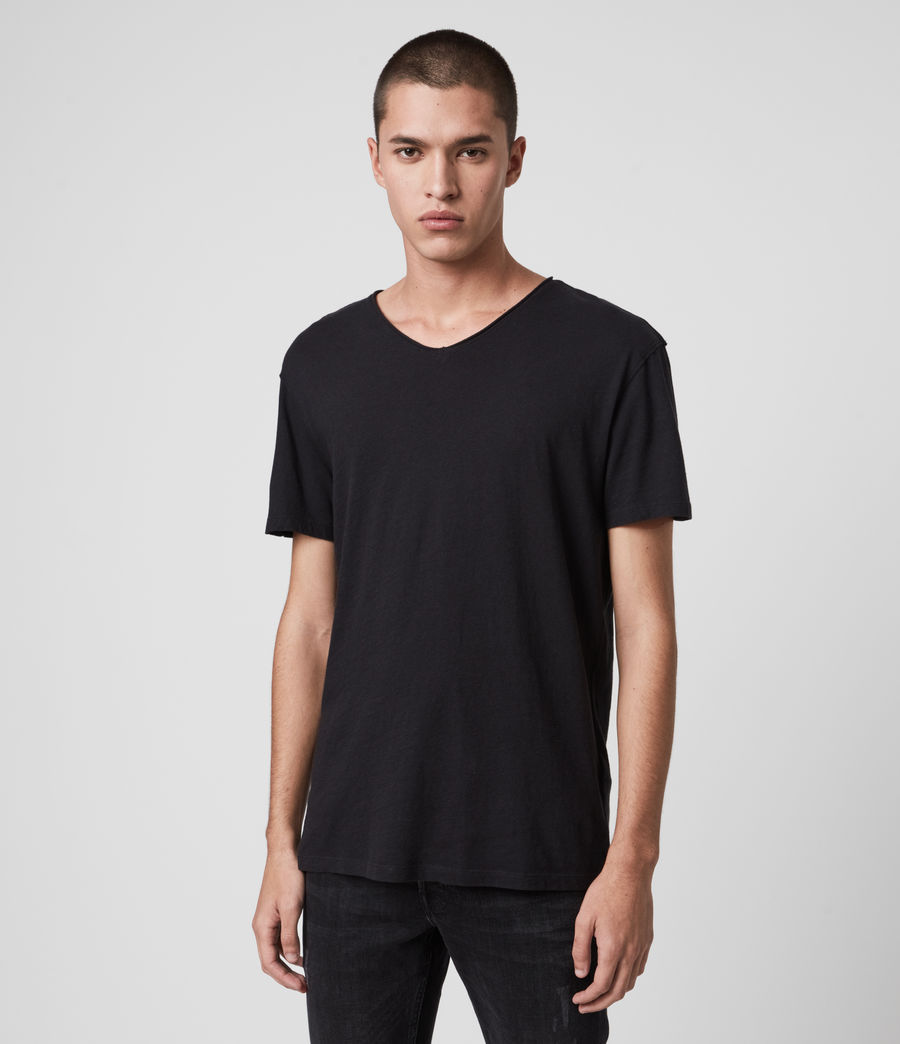 Mens Figure V-Neck T-Shirt (jet_black) - Image 4