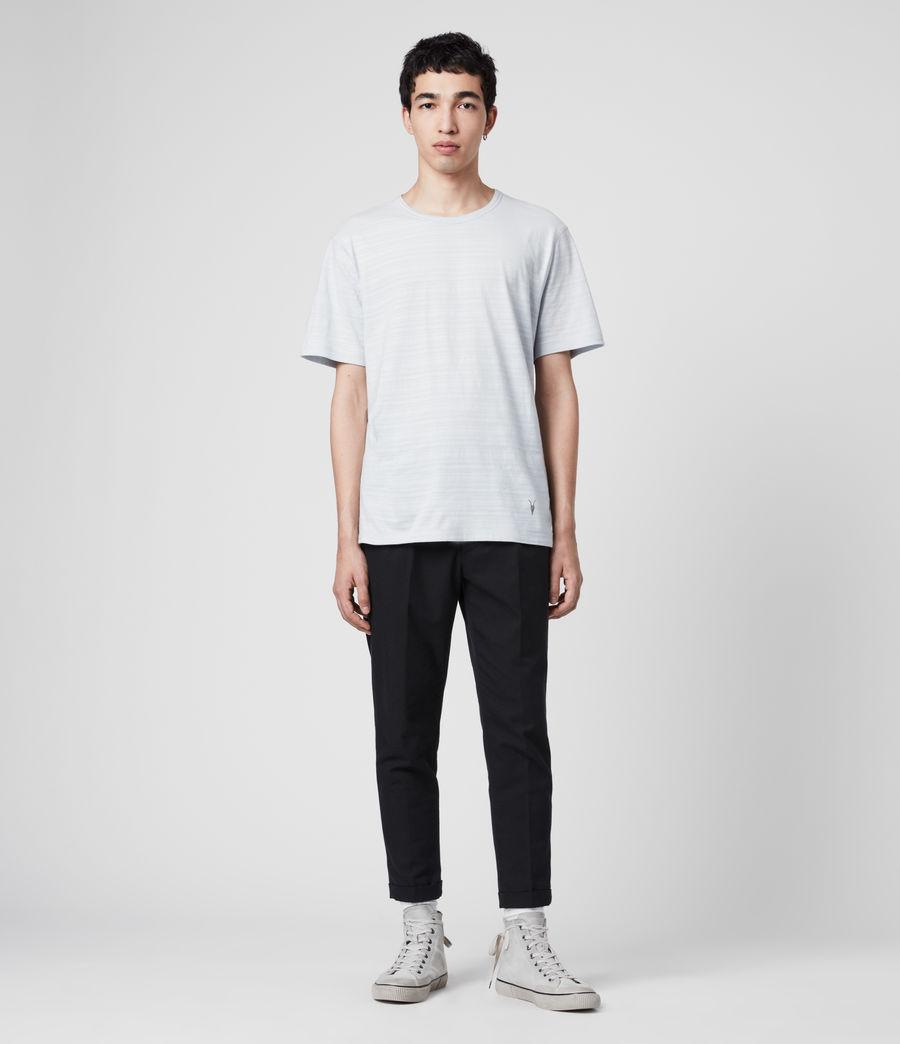 Hommes T-Shirt en Coton Texturé Aldwin (mineral_blue) - Image 3