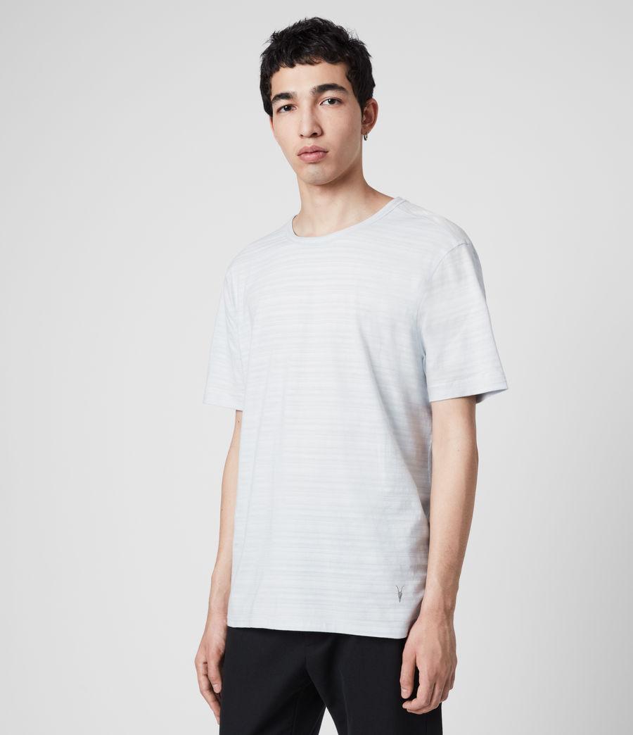 Hommes T-Shirt en Coton Texturé Aldwin (mineral_blue) - Image 4