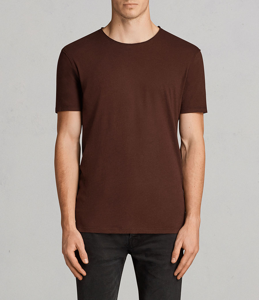 Uomo T-shirt Figure Crew (burnt_red) - Image 1