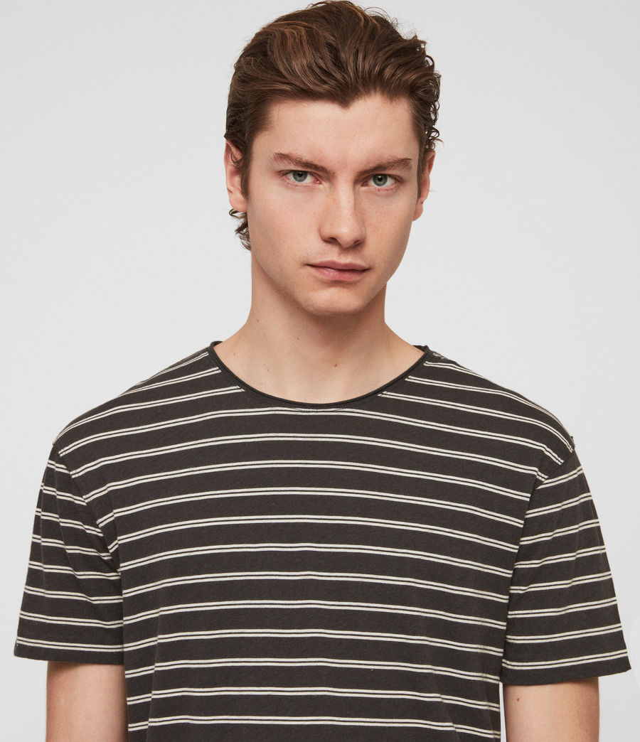 Hombre Playera Figure Stripe (washed_blk_chalk) - Image 2