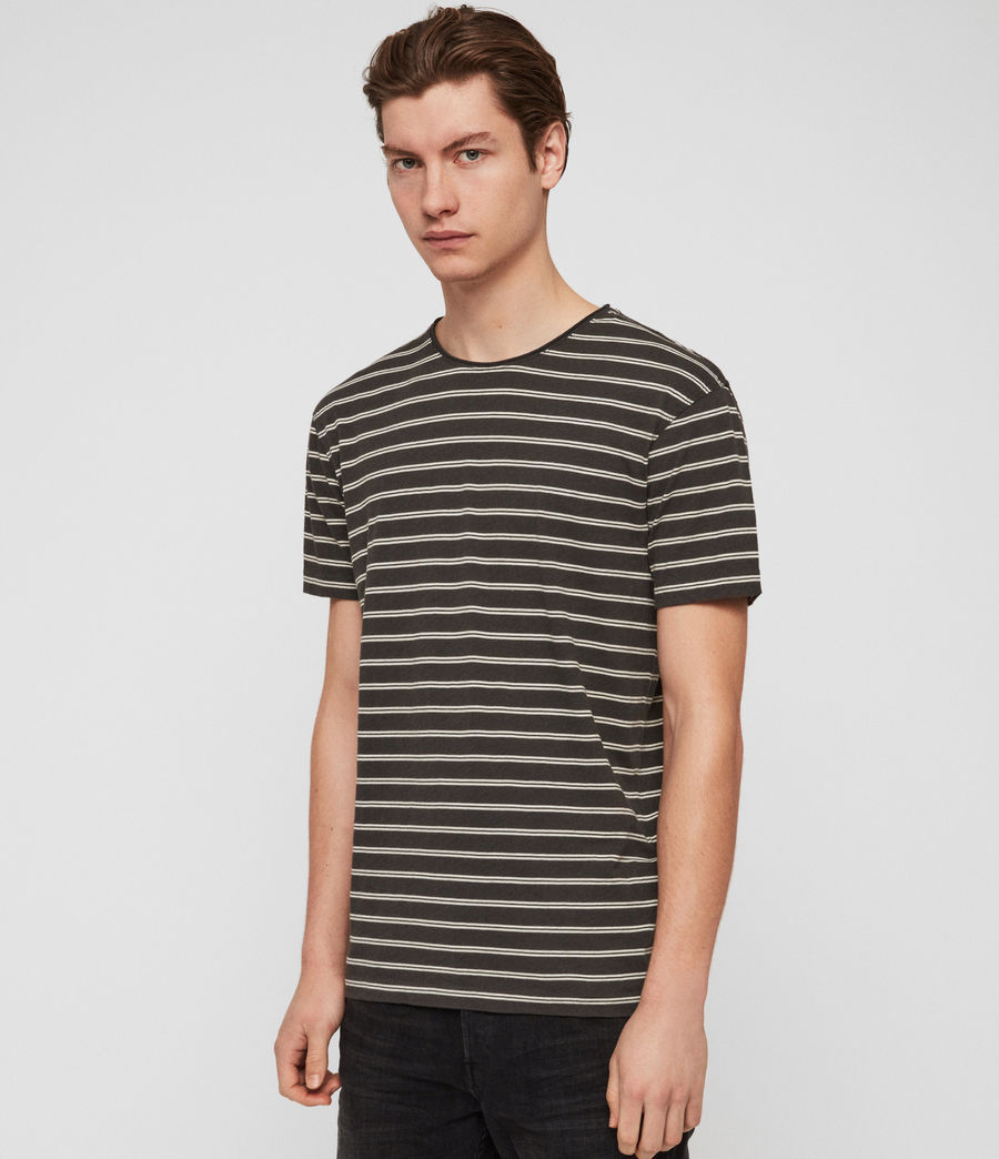 Hombre Playera Figure Stripe (washed_blk_chalk) - Image 4