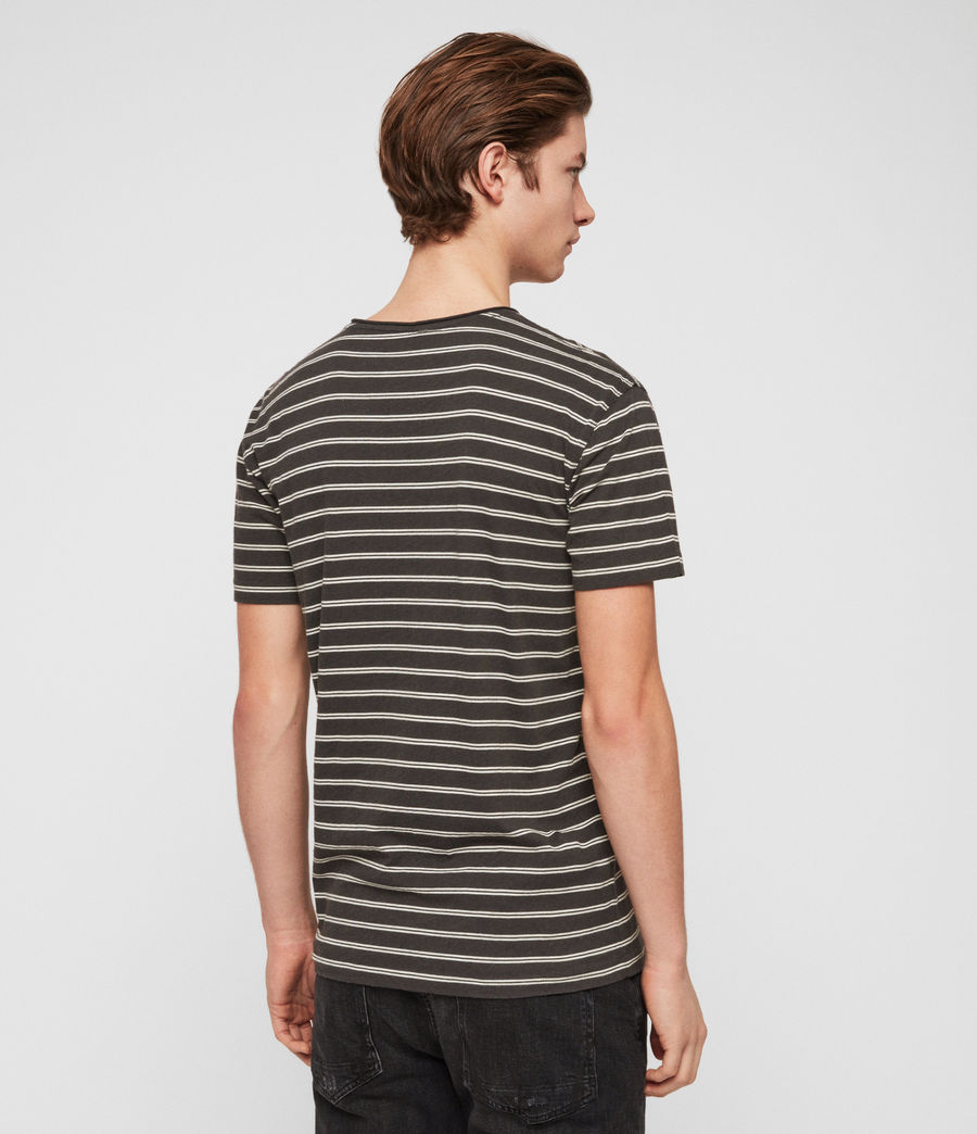 Hombres Camiseta Figure Stripe (washed_blk_chalk) - Image 5