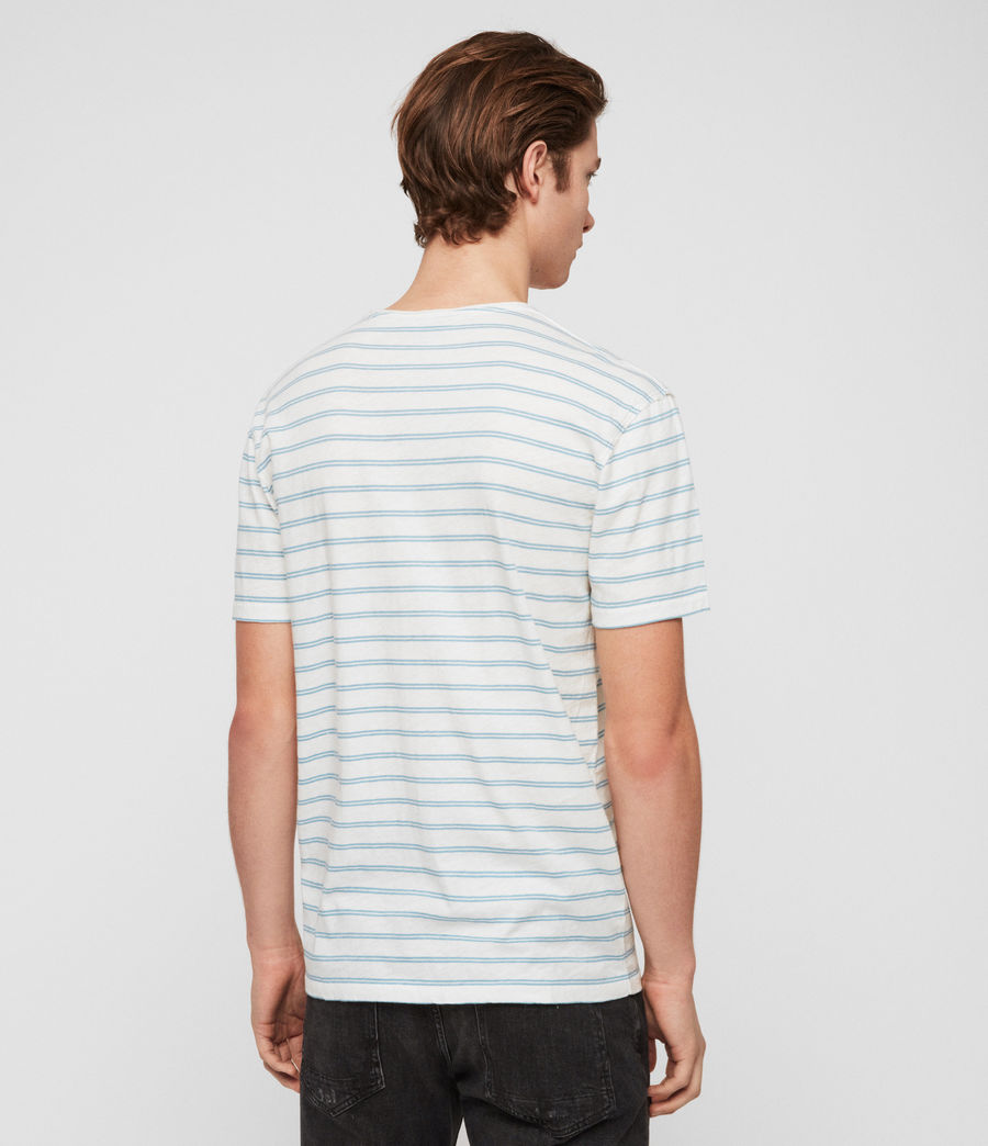 Men's Figure Stripe Crew T-Shirt (chalk_white_arbour) - Image 5