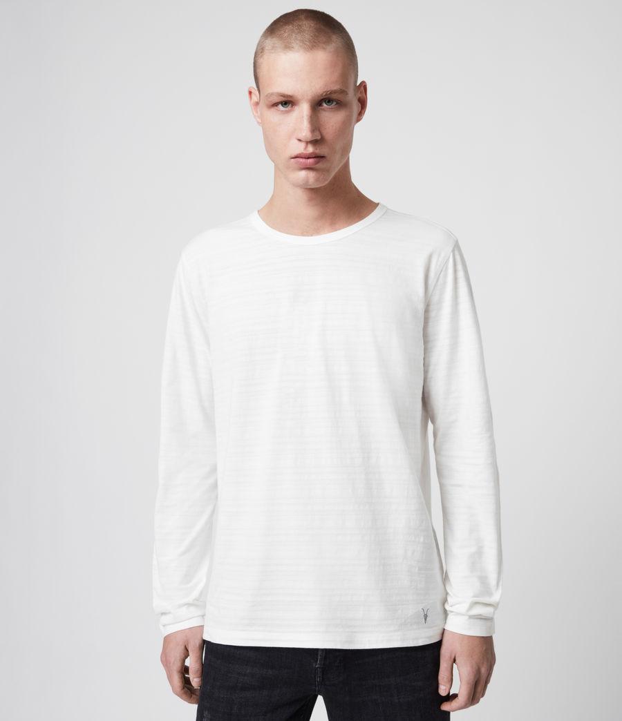 Mens Aldwin Long Sleeve Crew T-Shirt (chalk_white) - Image 1