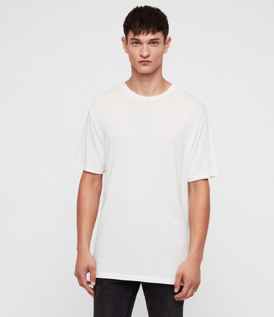 Hombres Camiseta Satum (chalk_white) - Image 1