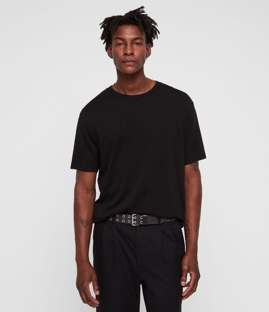 Mens Satum Crew T-Shirt (jet_black) - Image 1