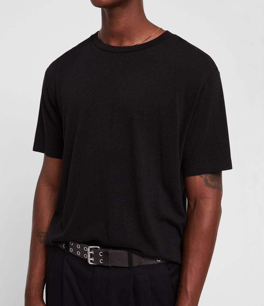 Mens Satum Crew T-Shirt (jet_black) - Image 2