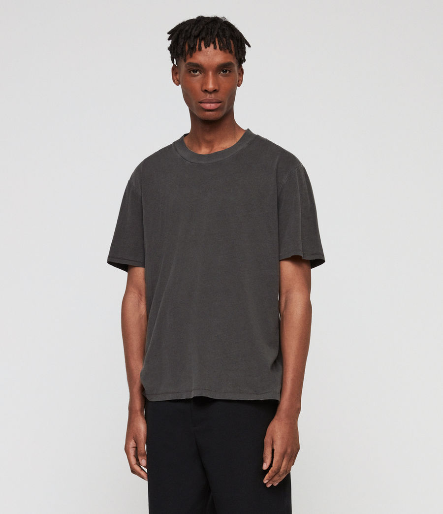 Men's Sunset Crew T-Shirt (washed_black) - Image 3