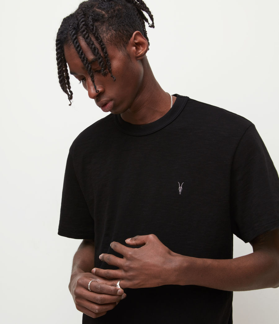Mens Dexter Crew T-Shirt (jet_black) - Image 2