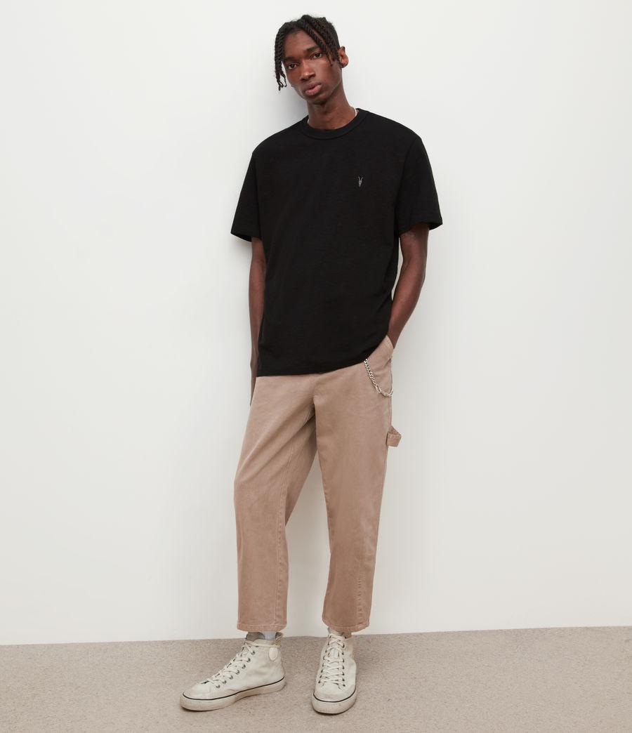 Mens Dexter Crew T-Shirt (jet_black) - Image 4