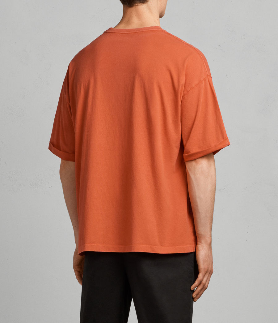 Mens Kleve Crew T-Shirt (block_red) - Image 3