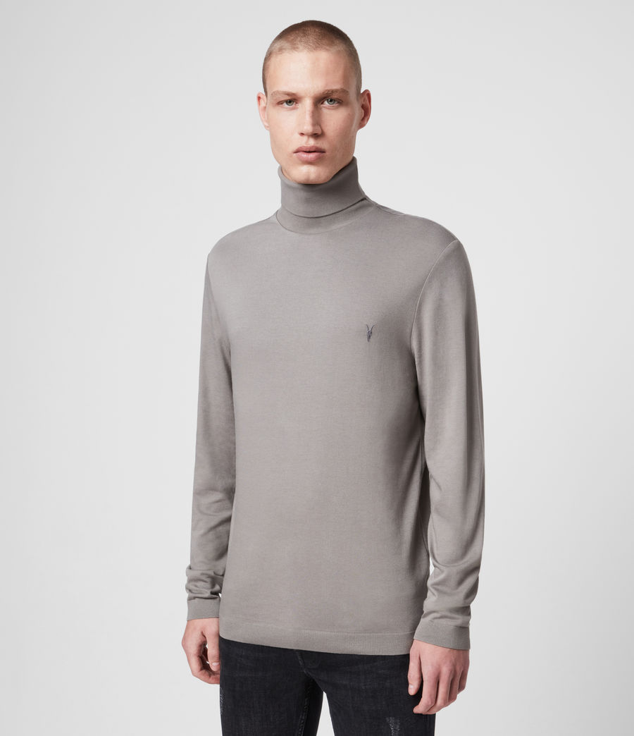 Herren Parlour Long Sleeve Rollkragen (putty) - Image 1