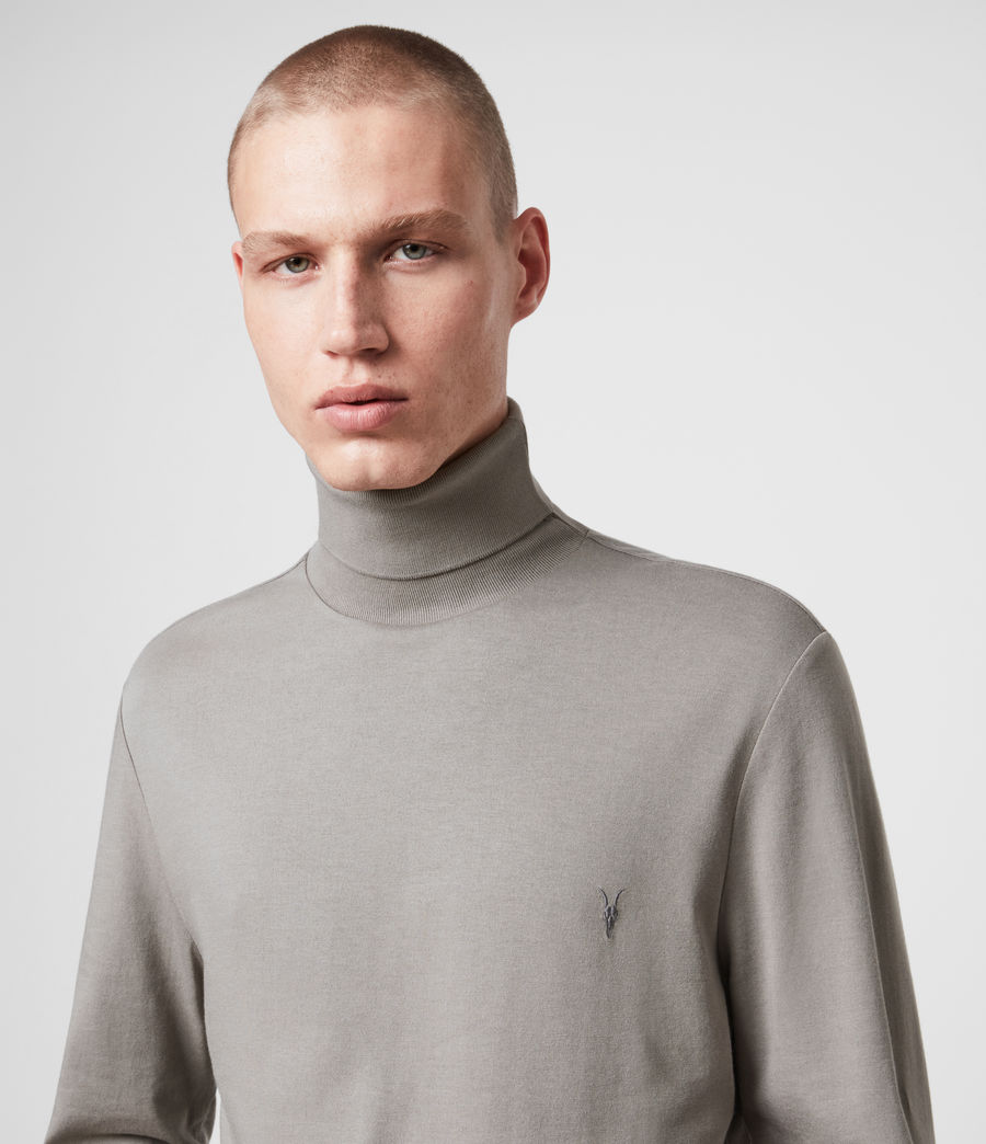 Herren Parlour Long Sleeve Rollkragen (putty) - Image 2