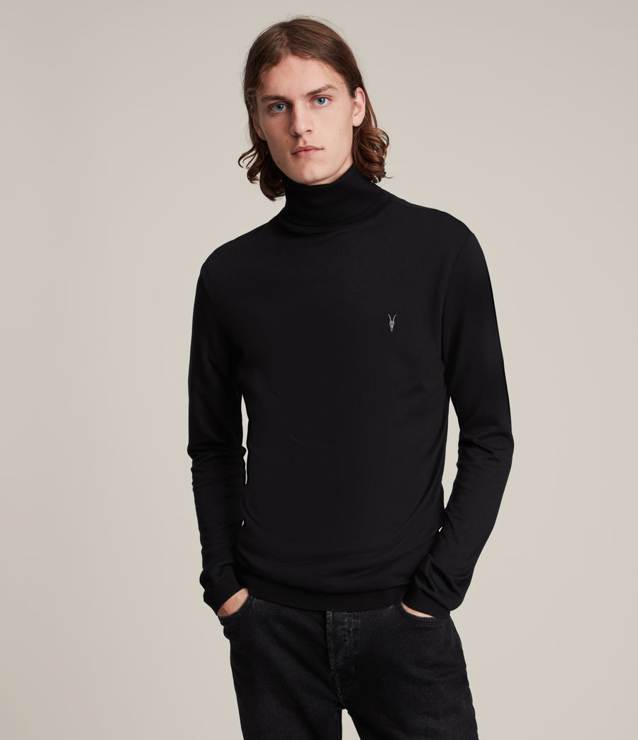 Mens Parlour Roll Neck Top (black) - Image 1