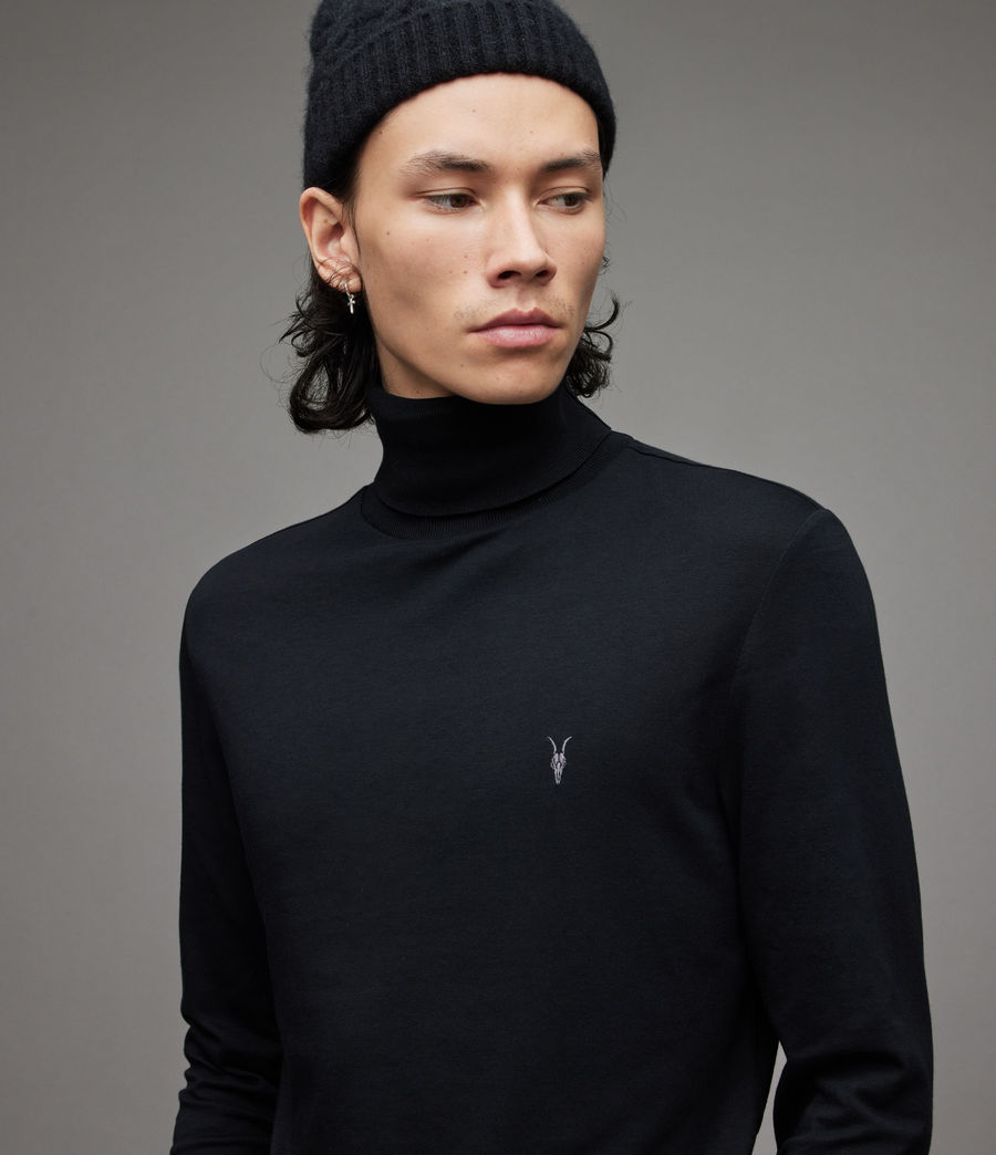 Mens Parlour Roll Neck Top (black) - Image 3