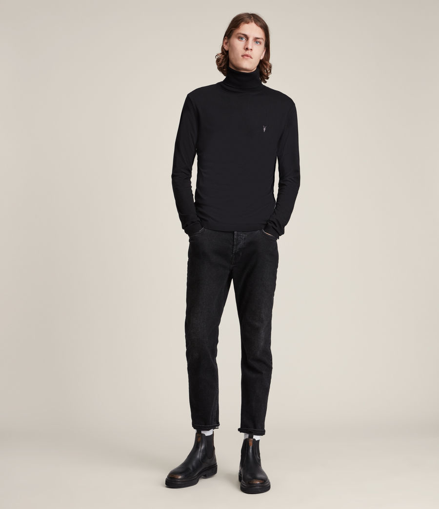 Men's Parlour Roll Neck Top (black) - Image 3