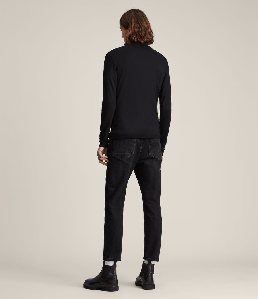 Men's Parlour Roll Neck Top (black) - Image 4