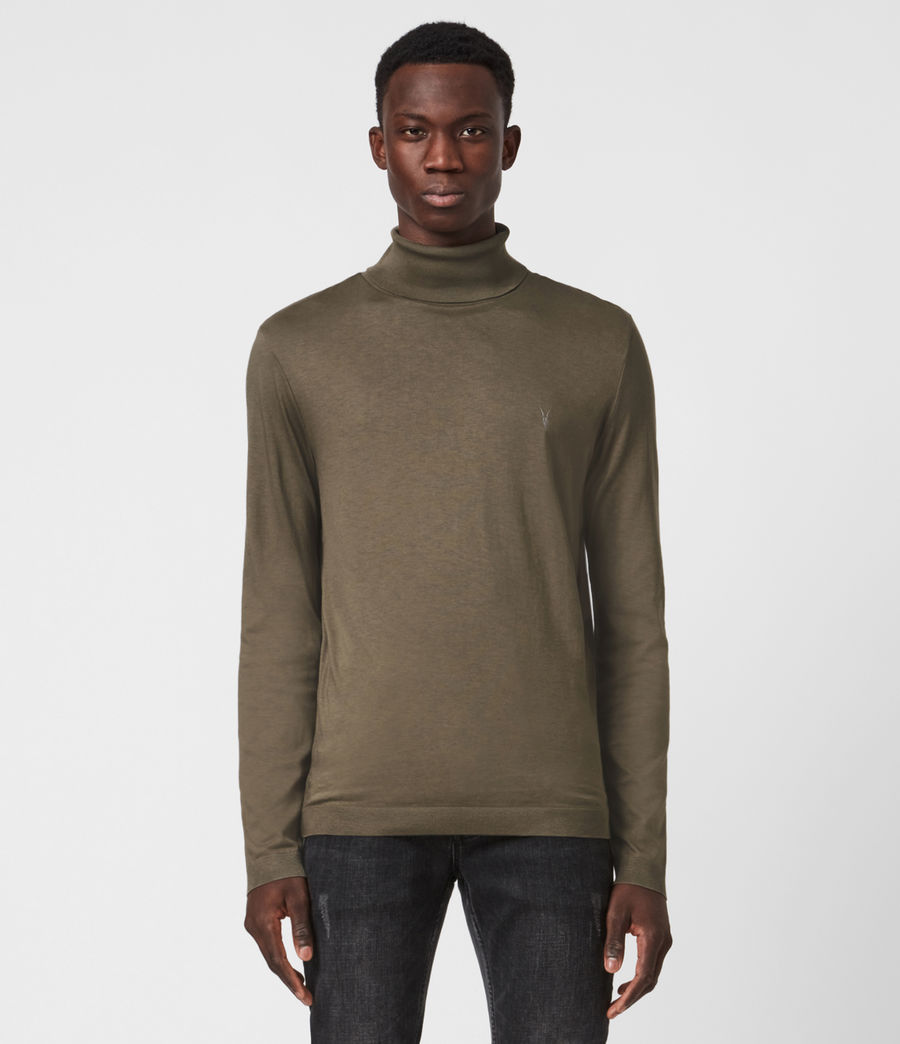 Mens Parlour Roll Neck Top (ensign_green) - Image 1