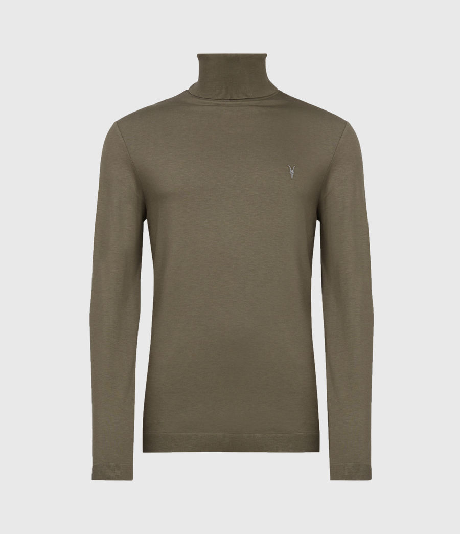 Mens Parlour Roll Neck Top (ensign_green) - Image 2