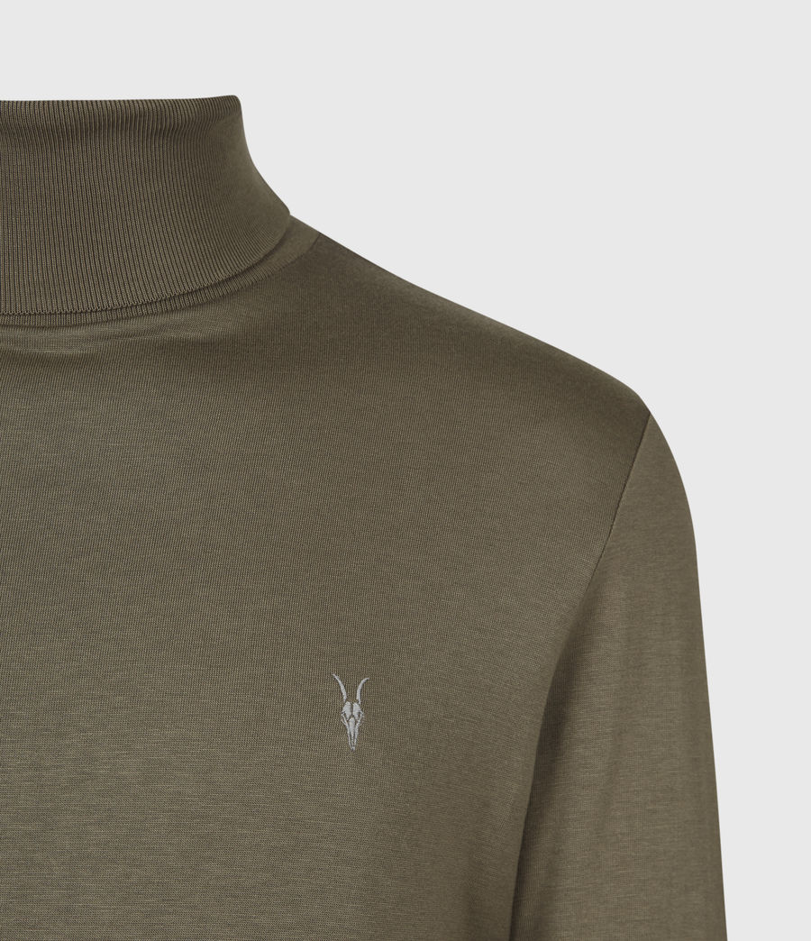 Mens Parlour Roll Neck Top (ensign_green) - Image 4