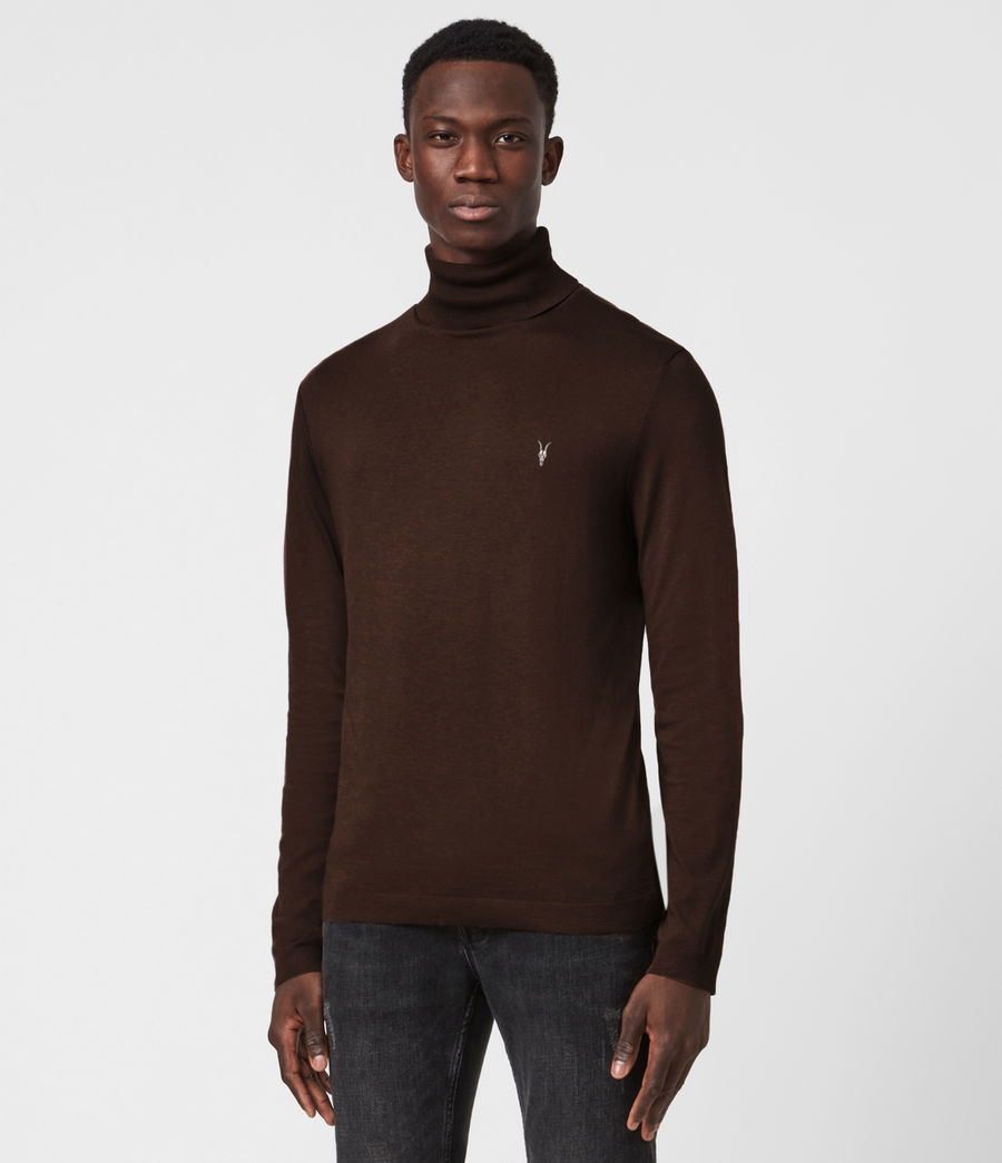 Mens Parlour Roll Neck Top (currant_red) - Image 1