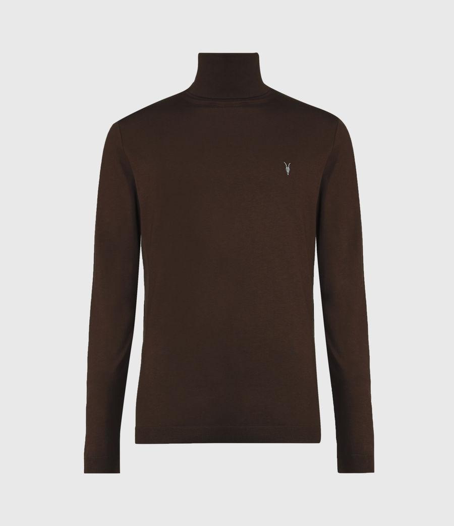Mens Parlour Roll Neck Top (currant_red) - Image 2