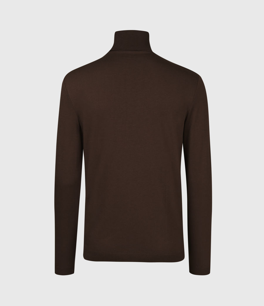 Mens Parlour Roll Neck Top (currant_red) - Image 3