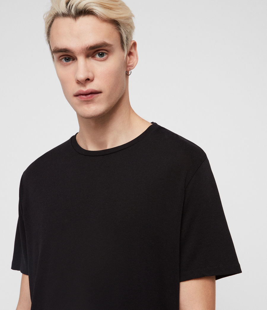 Men's Pluto Crew T-Shirt (jet_black) - Image 2