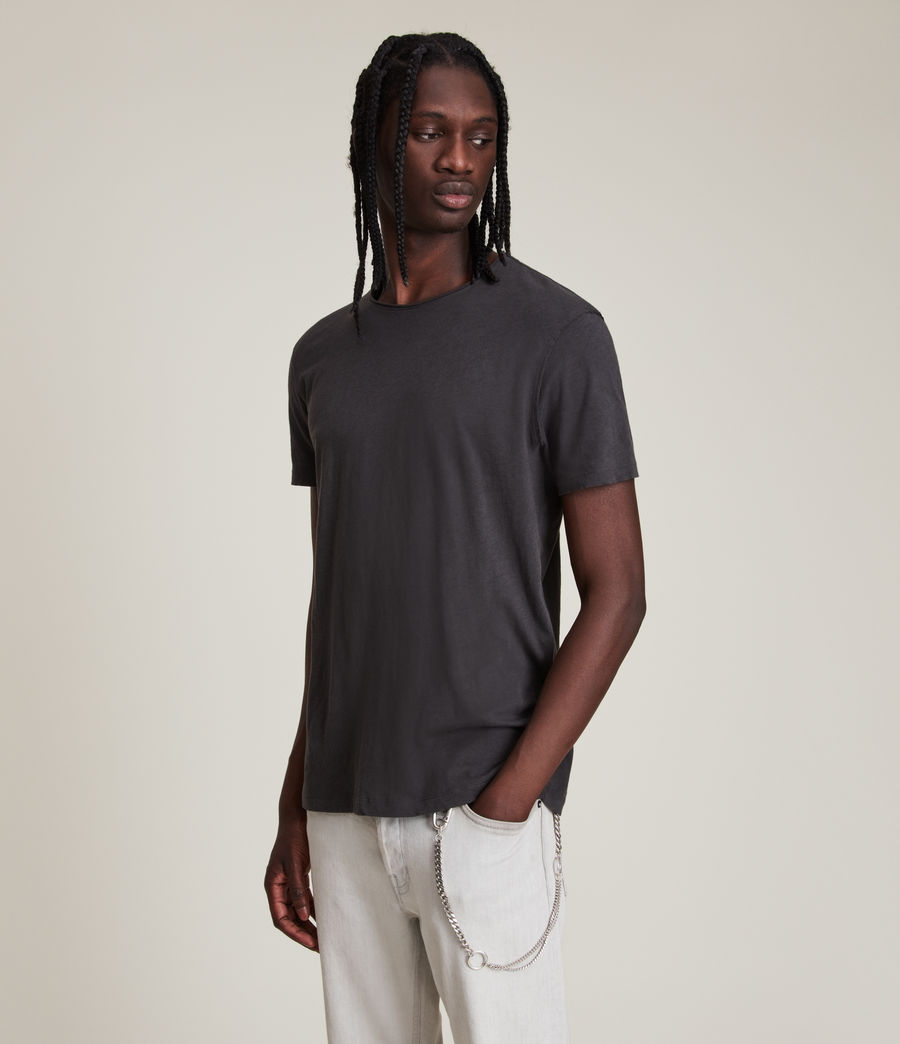 Hommes T-Shirt en Coton Pur Figure (washed_black) - Image 4