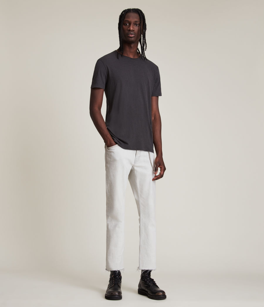 Hommes T-Shirt en Coton Pur Figure (washed_black) - Image 5