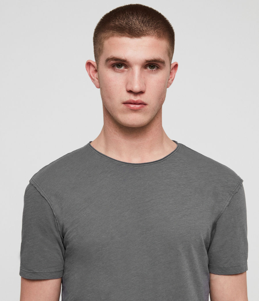 Mens Figure Crew T-Shirt (light_aqua_blue_ml) - Image 2