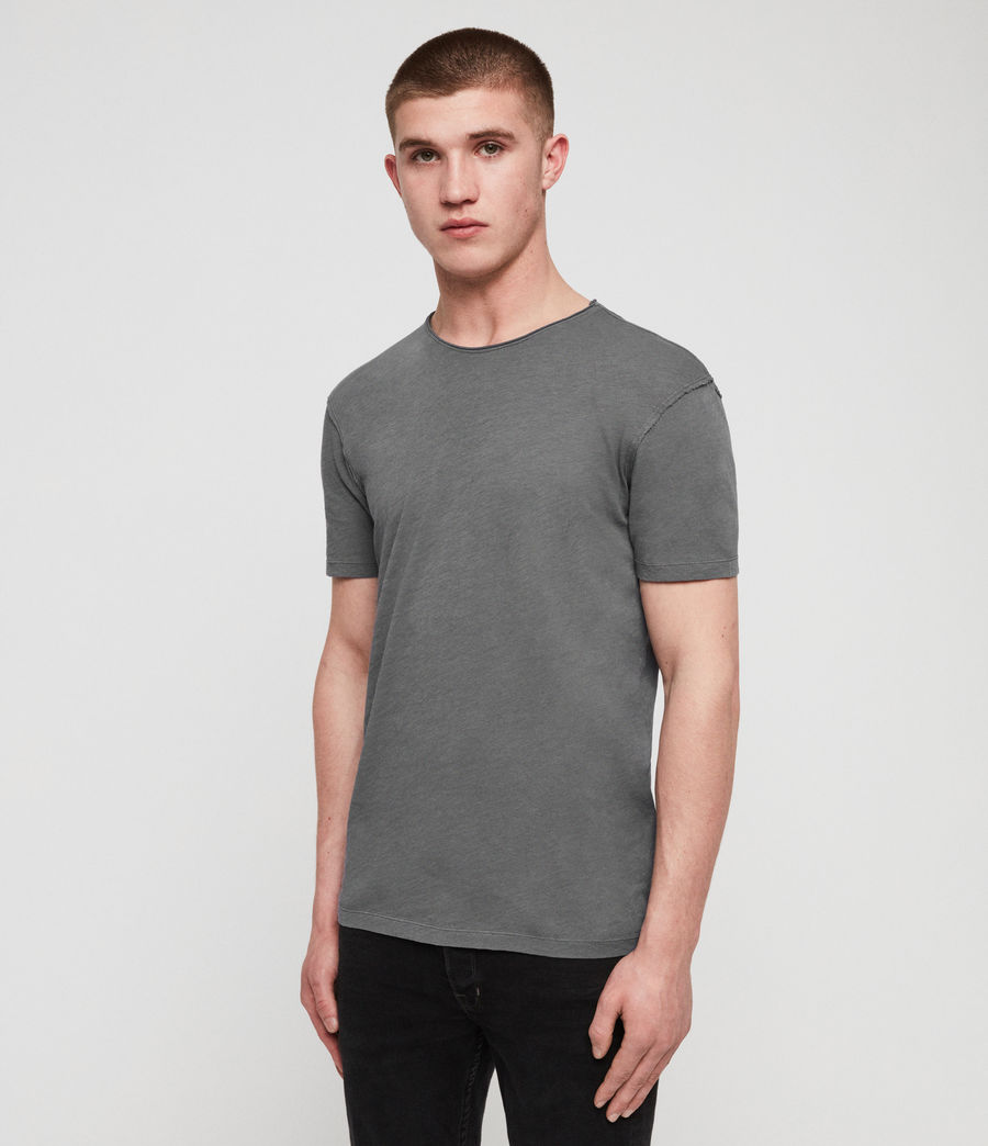 Mens Figure Crew T-Shirt (slate_grey) - Image 4