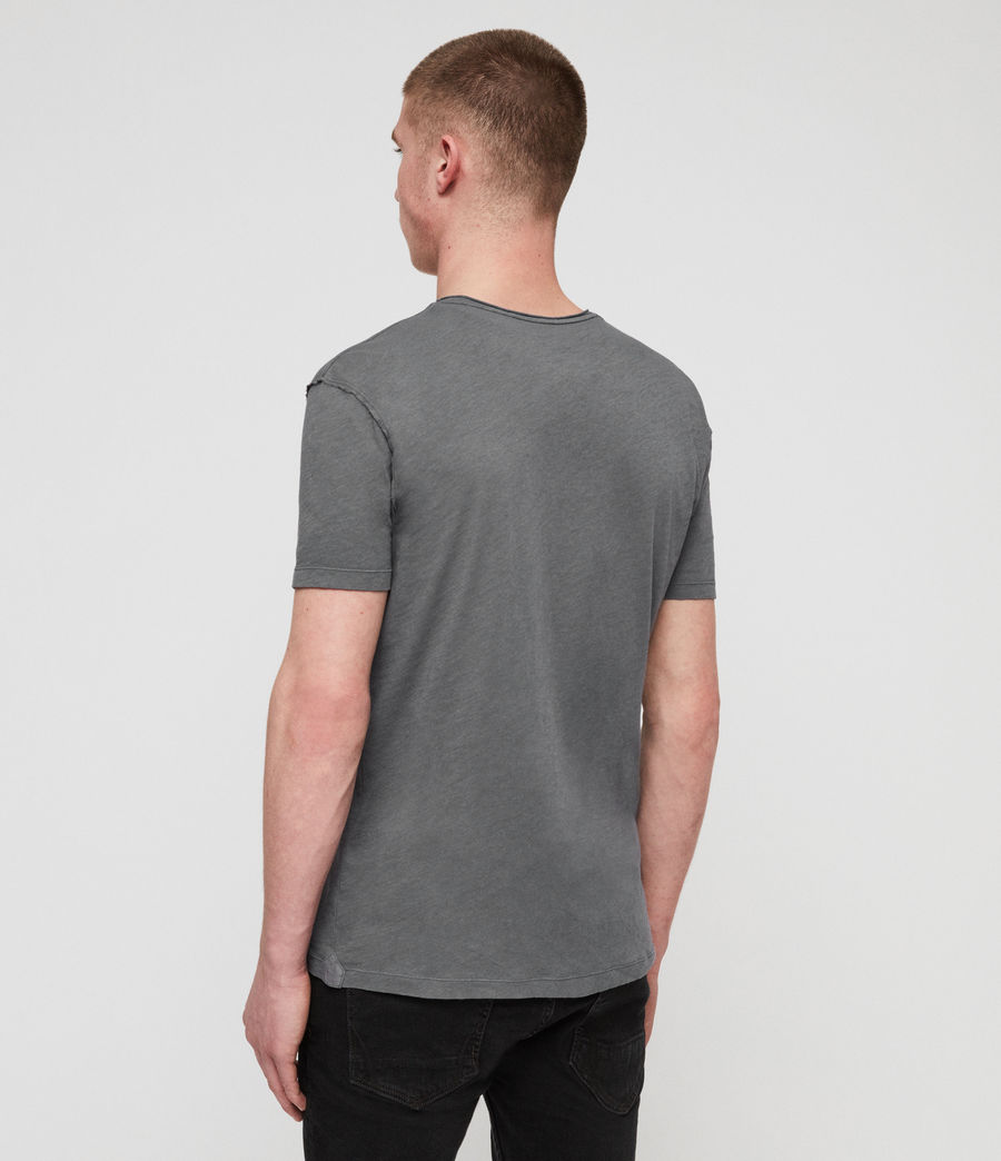 Mens Figure Crew T-Shirt (slate_grey) - Image 5