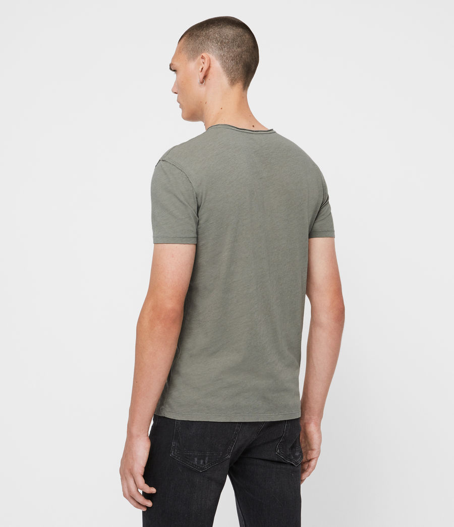 Uomo T-shirt Figure - In cotone con cuciture in rilievo (willow_green) - Image 6
