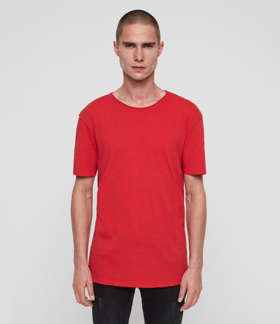 Mens Figure Crew T-Shirt (red) - Image 1