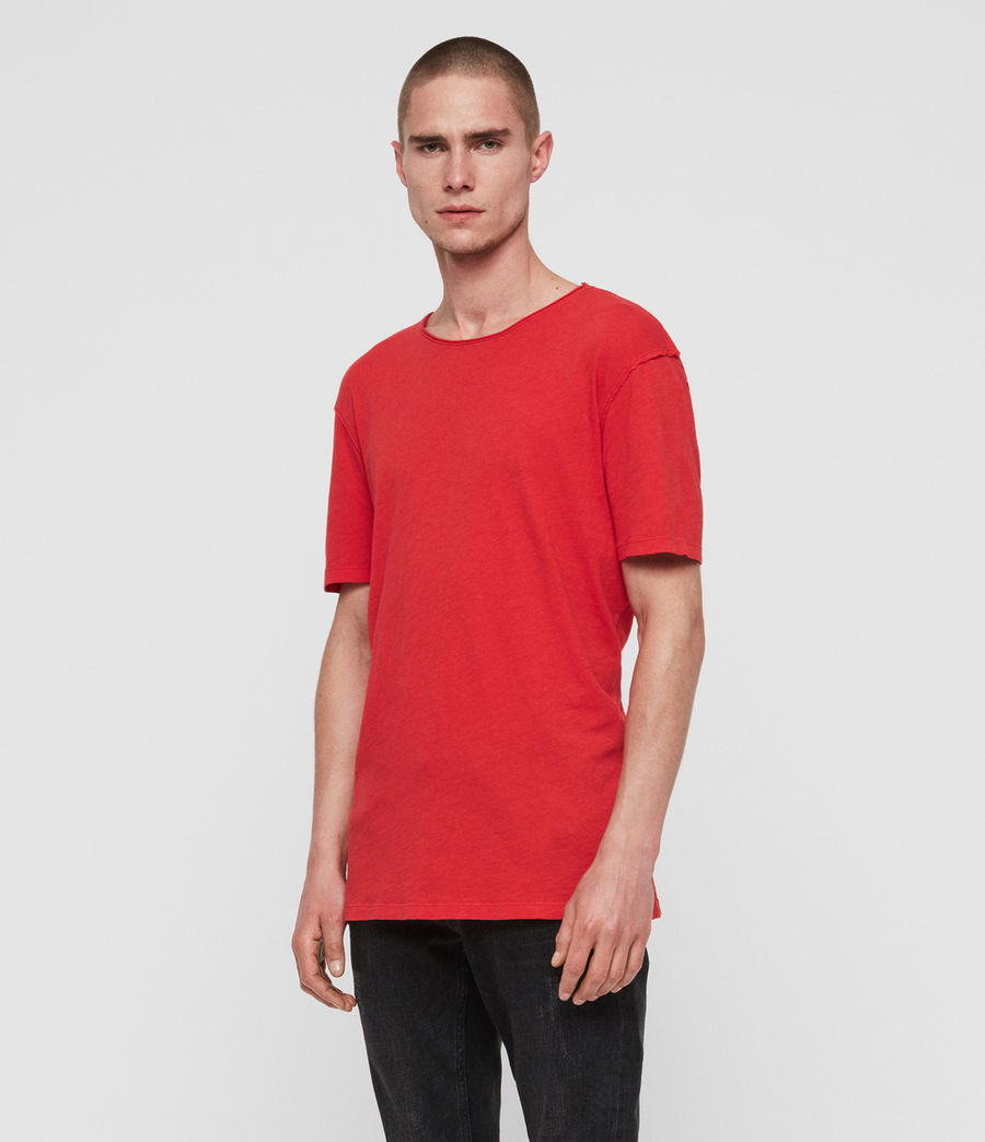 Mens Figure Crew T-Shirt (red) - Image 2