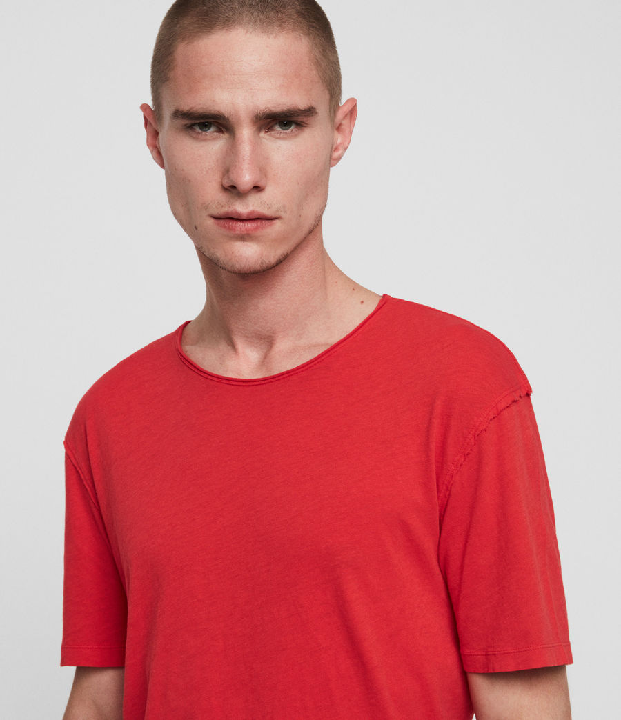 Mens Figure Crew T-Shirt (red) - Image 3