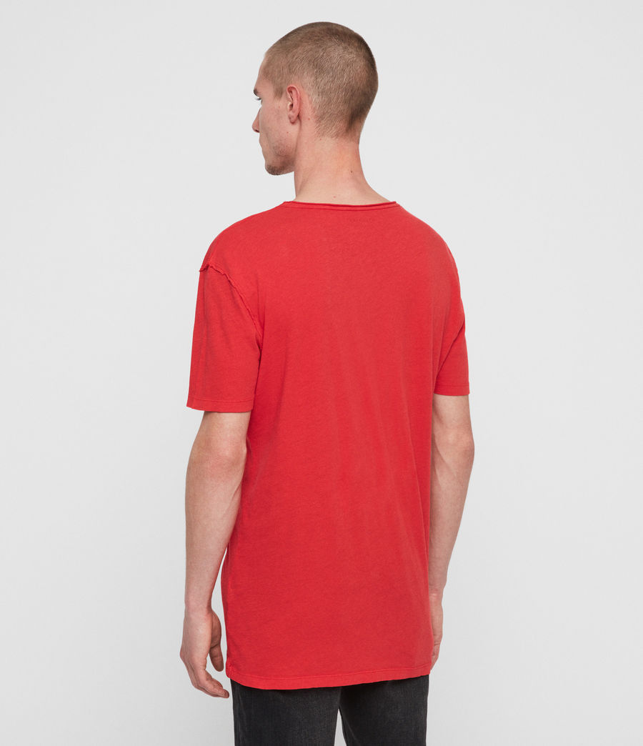 Mens Figure Crew T-Shirt (red) - Image 4