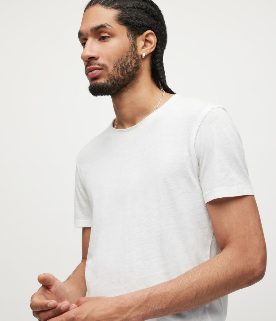 Mens Figure Crew T-Shirt (optic_white) - Image 2